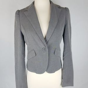 Old Navy women's gray single button blazer jacket